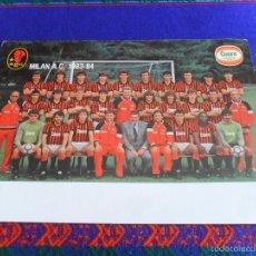 Coleccionismo deportivo: POSTAL MILAN A.C. 1983 1984 83 84 DE 24X17 CMS. PALMARÉS Y PLANTILLA. PRECIOSA Y RARA.. Lote 56959300