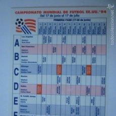 Coleccionismo deportivo: POSTAL MUNDIAL FUTBOL EE.UU. 94 CON CALENDARIO PRIMERA FASE.. Lote 57074933