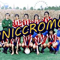 Coleccionismo deportivo: AT MADRID 1973 1974 FINAL COPA EUROPA TARJETON TAMAÑO 20X30 TIPO POSTAL ACABADO BRILLO . Lote 57604706