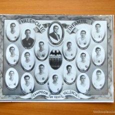 Coleccionismo deportivo: VALENCIA - CAMPEÓN INFANTIL DEL AÑO 1936 - FUNDADOR Y ENTRENADOR JULIO CERVERA - TAMAÑO 23X17. Lote 58178865
