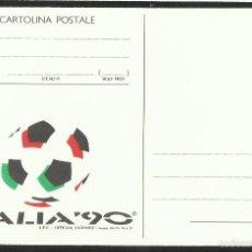 Coleccionismo deportivo: ITALIA 1990 POSTAL DE LA COPA MUNDIAL DE FUTBOL ITALIA 90- FIFA- FDC. Lote 58347353