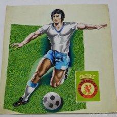Coleccionismo deportivo: LAMINA ORIGINAL PINTADA A MANO DEL REAL ZARAGOZA, FUTBOL, AÑO 60 APROX. SON LOS PROTOTIPOS ORIGINALE. Lote 59473739