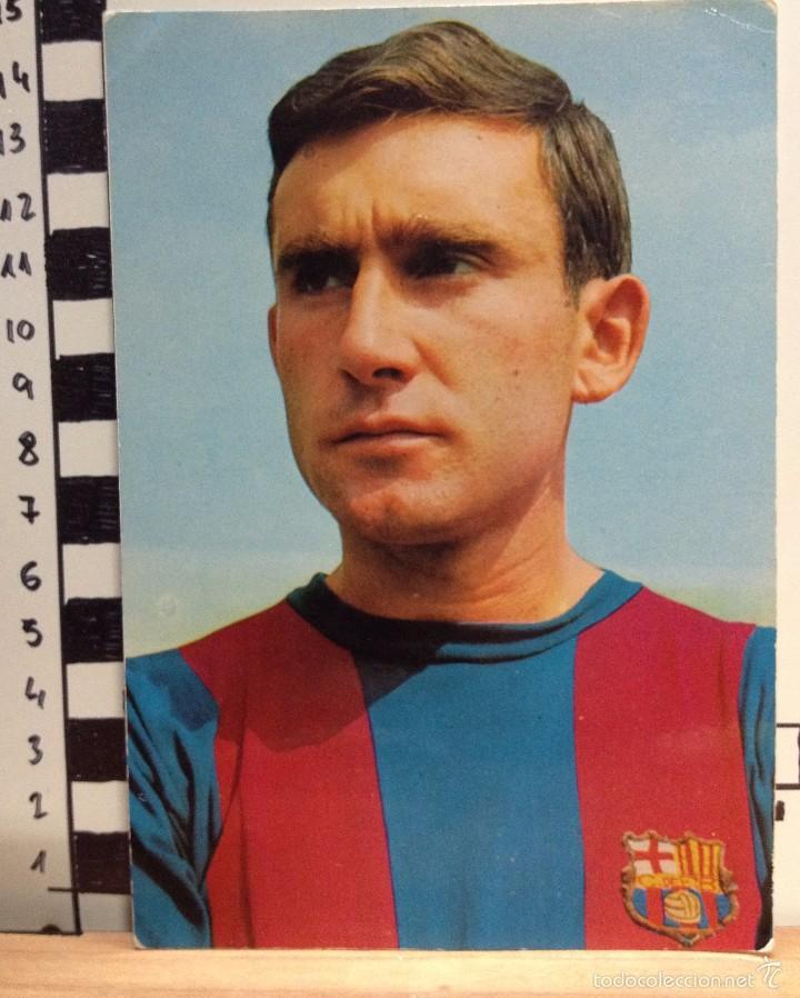 ZABALZA F.C. BARCELONA POSTAL SIN CIRCULAR FOTO SEGUI (Coleccionismo Deportivo - Postales de Deportes - Fútbol)
