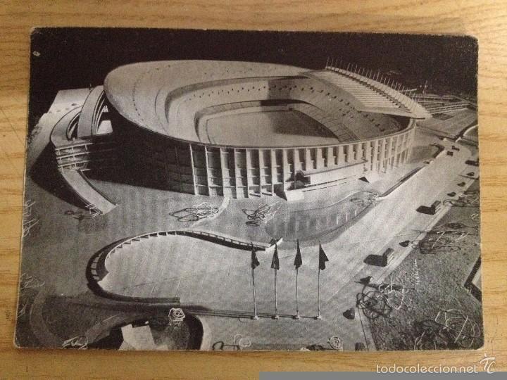 MAQUETA DEL NUEVO CAMPO DEL F.C. BARCELONA POSTAL SIN CIRCULAR FOTOS SENDER (Coleccionismo Deportivo - Postales de Deportes - Fútbol)