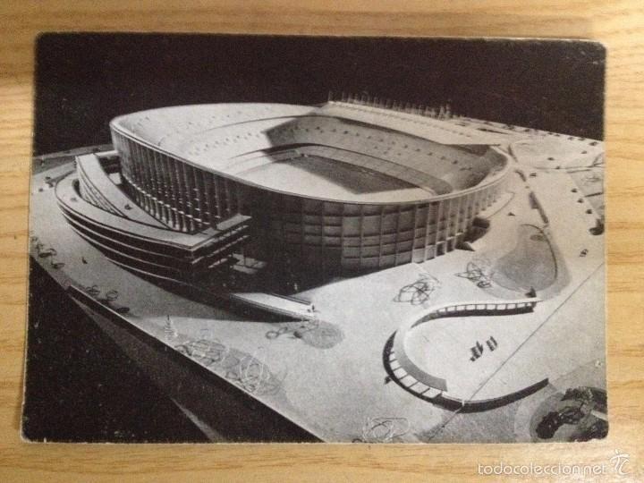 MAQUETA DEL NUEVO CAMPO F.C. BARCELONA POSTAL SIN CIRCULAR FOTO SENDER (Coleccionismo Deportivo - Postales de Deportes - Fútbol)