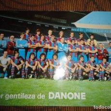 POSTAL FC BARCELONA 1976 1977 GRAN TAMAÑO MIDE 21,5 X 15,5 CM CRUYFF