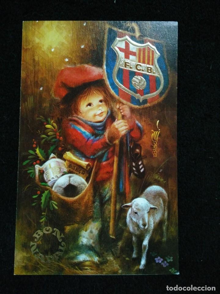 Felicitaciones De Navidad Del Fc Barcelona.Postal Felicitacion Nadal Navidades Del Futbol Vendido En