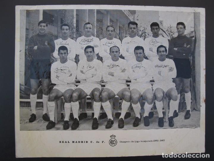 FOTO - POSTAL DEL REAL MADRID - CAMPEÓN DE LIGA TEMPORADA 1962-1963 - DI STEFANO - PUSKAS - GENTO... (Coleccionismo Deportivo - Postales de Deportes - Fútbol)