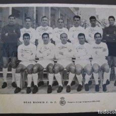 Coleccionismo deportivo: FOTO - POSTAL DEL REAL MADRID - CAMPEÓN DE LIGA TEMPORADA 1962-1963 - DI STEFANO - PUSKAS - GENTO.... Lote 63301136