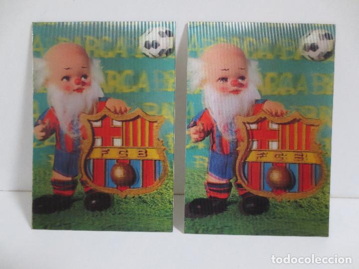 DOS POSTALES - 3D - F.C BARCELONA / BARÇA (Coleccionismo Deportivo - Postales de Deportes - Fútbol)