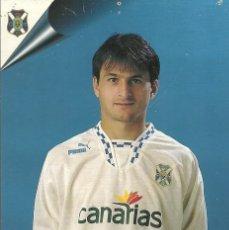 Coleccionismo deportivo: CD TENERIFE 1998.POSTAL 15X10,5 CENTÍMETROS DE IGNACIO CONTE.. Lote 172699495
