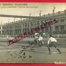 Coleccionismo deportivo: POSTAL PARTIDO FUTBOL 1909, EXPOSICION VALENCIANA , VALENCIA , FOTOGRAFICA ,ORIGINAL , P85630. Lote 64786199