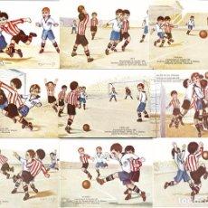 Coleccionismo deportivo: LOTE DE 10 POSTALES DEL CAMPEONATO DE ESPAÑA DE 1923.ILUSTRADAS POR CERVELLO.. Lote 65882702