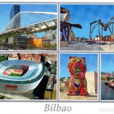 Coleccionismo deportivo: POSTAL BILBAO - ESTADIO NUEVO SAN MAMÉS Y VISTAS TURISTICAS. Lote 67477357