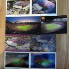 Coleccionismo deportivo: POSTAL FUTBOL ESTADIO CAMPO FUTBOL POST CARD FOOTBALL STADIUM CAMP NOU F.C. BARCELONA 8 MODELOS. Lote 67534569