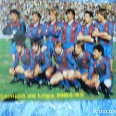 Coleccionismo deportivo: FC BARCELONA POSTAL TEMPORADA 1984-85. Lote 68843609