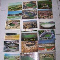 Coleccionismo deportivo: LOTE 21 POSTALES CAMPOS DE FUTBOL NACIONALES Y EXTRANJEROS. ALGUNAS RARAS. Lote 69106229