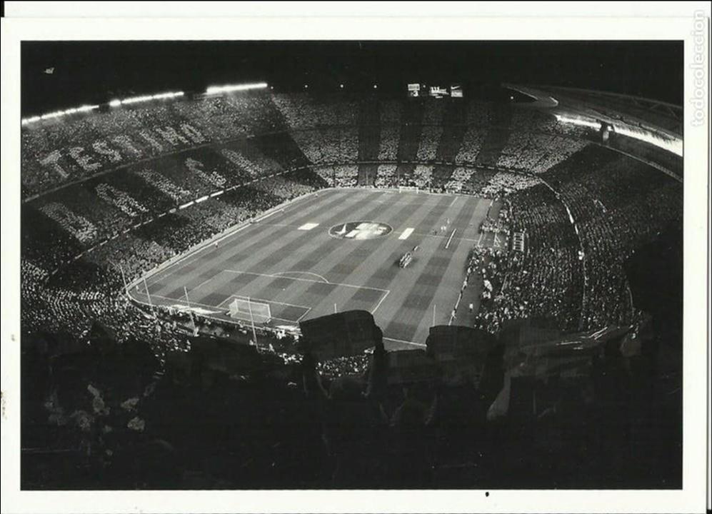 POSTAL EN BLANCO Y NEGRO EL C.BARCELONA NUEVA (Coleccionismo Deportivo - Postales de Deportes - Fútbol)