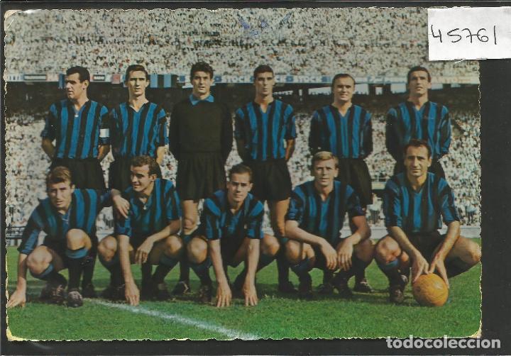 POSTAL INTER DE MILAN -CIRCULADA EN EL 1962 - VER REVERSO - (45.761) (Coleccionismo Deportivo - Postales de Deportes - Fútbol)