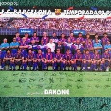 Coleccionismo deportivo: POSTAL FUTBOL CLUB BARCELONA 90 / 91 DANONE BARÇA. Lote 70289629