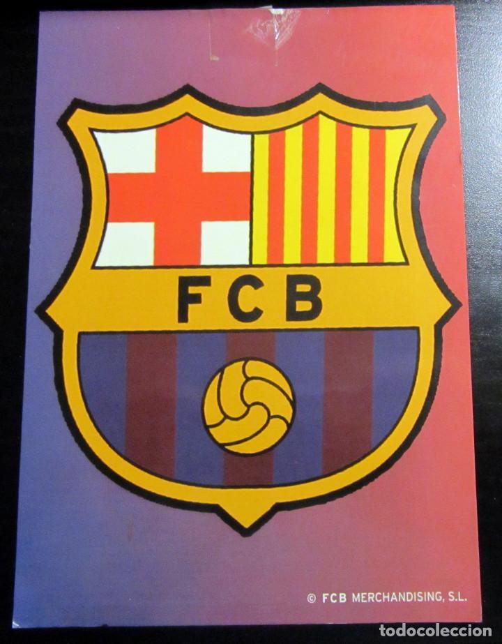 POSTAL FUTBOL POST CARD FOOTBALL F.C. BARCELONA ESCUDO (Coleccionismo Deportivo - Postales de Deportes - Fútbol)