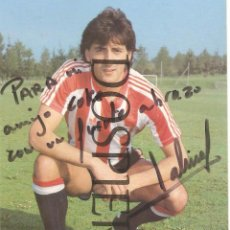Coleccionismo deportivo: POSTAL PATXI SALINAS, ATHLETIC DE BILBAO, CON AUTÓGRAFO- PUBLICIDAD KELME. Lote 75133391