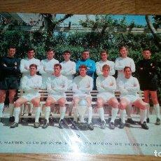 Coleccionismo deportivo: POSTAL REAL MADRID CAMPEON DE EUROPA 1966 CON FIRMA DE LOS JUGADORES. Lote 78668837