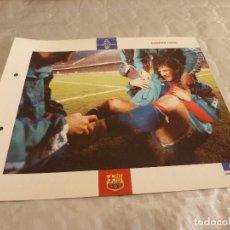 Coleccionismo deportivo: FOTO BAKERO-F.C.BARCELONA-(18 X 24 CM)-FICHA PAPEL POSTAL GRAN ÀLBUM BARÇA.. Lote 79793005