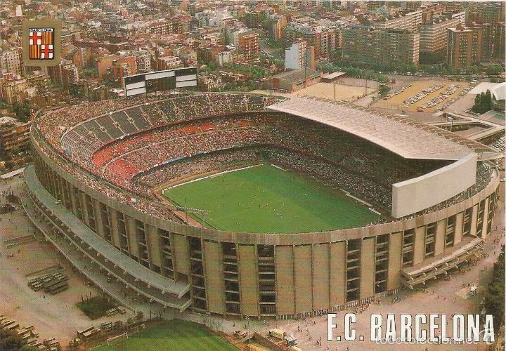 BARCELONA, ESTADI CLUB FUTBOL BARCELONA, VISTA AÉREA - ESCUDO DE ORO Nº 506 - S/C (Coleccionismo Deportivo - Postales de Deportes - Fútbol)