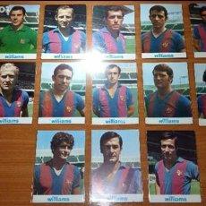 LOTE 13 POSTALES PUBLICITARIAS (WILLIAMS) F. C. BARCELONA. ASENSI, REINA, GALLEGO, DE LA CRUZ ETC..
