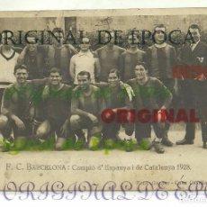 Coleccionismo deportivo: (F-170453)POSTAL FOTOGRAFICA F.C.BARCELONA : CAMPIO D´ESPANYA I DE CATALUNYA 1928 . FOTO GASPAR. Lote 82908468