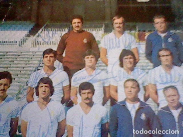 Coleccionismo deportivo: postal tarjeta plantilla real madrid liga 77 78 ed Bergas s/c sobada 28 autografos originales - Foto 11 - 83595428