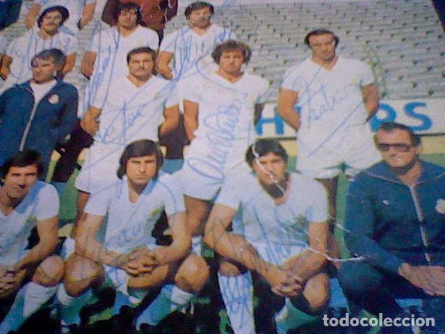 Coleccionismo deportivo: postal tarjeta plantilla real madrid liga 77 78 ed Bergas s/c sobada 28 autografos originales - Foto 13 - 83595428
