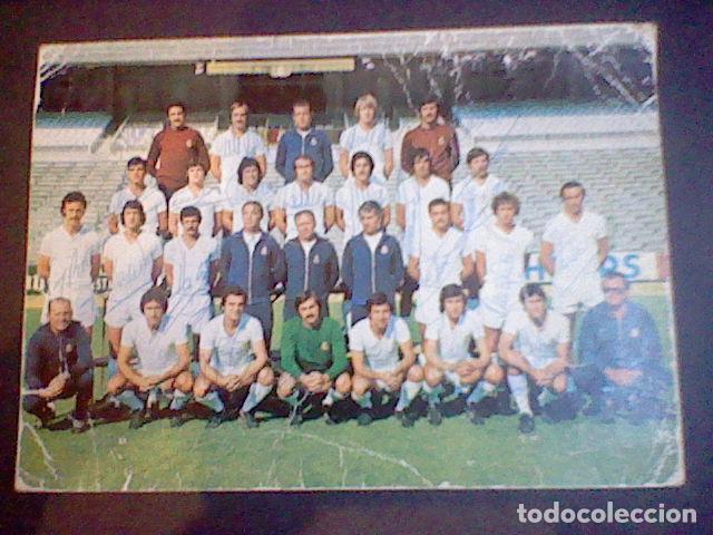 Coleccionismo deportivo: postal tarjeta plantilla real madrid liga 77 78 ed Bergas s/c sobada 28 autografos originales - Foto 14 - 83595428