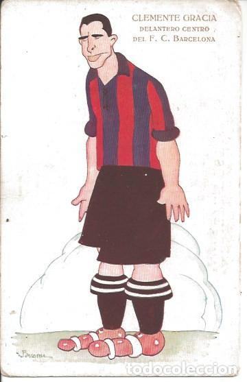 POSTAL FC CF FUTBOL CLUB BARCELONA BARÇA JUGADOR CLEMENTE GRACIA (Coleccionismo Deportivo - Postales de Deportes - Fútbol)