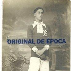 Coleccionismo deportivo: (F-170426)FOTOGRAFIA DE ESTUDIO GUARDAMETA FOOT-BALL C.D.EUROPA , AÑOS 20. Lote 84706412
