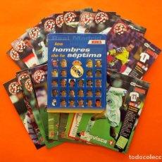 Coleccionismo deportivo: LOS HOMBRES DE LA SÉPTIMA - REAL MADRID - MARCA - FICHAS 97-98, 1997-1998 - VER FOTOS EN EL INTERIOR. Lote 85329248