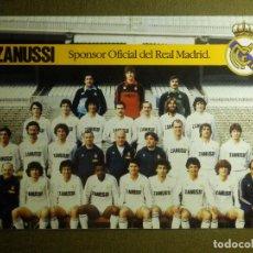 Coleccionismo deportivo: POSTAL - FUTBOL - EQUIPO - REAL MADRID - SPONSOR OFICIAL - ZANUSSI - CON FIRMAS DE JUGADORES - 1983 . Lote 85337276