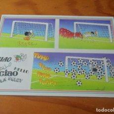 Coleccionismo deportivo: POSTAL ITALIA 90 MUNDIAL DE FUTBOL - CARTOON CARDS DE FULVIO BERNARDINI - NUEVA SIN USO -. Lote 86130216