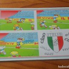 Coleccionismo deportivo: POSTAL ITALIA 90 MUNDIAL DE FUTBOL - CARTOON CARDS DE FULVIO BERNARDINI - NUEVA SIN USO -. Lote 86130332