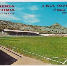 Coleccionismo deportivo: POSTAL CAMPO DEL COLLAO. ALCOY. LIBRERÍA HISTORIA Nº5801. 1971. PERFECTO ESTADO IMPRESO CALEND.LIGA. Lote 86585816