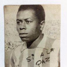 Coleccionismo deportivo: JONES (ATLÉTICO DE MADRID) FOTO-POSTAL ORIGINAL SÍ A LA PAZ PARA EL REFERENDUM DE 14-12-1966 . Lote 87330140
