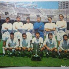 Coleccionismo deportivo: POSTAL FUTBOL REAL MADRID -CAMPEON 1966-67 TAMAÑO CUARTILLA. Lote 87375736