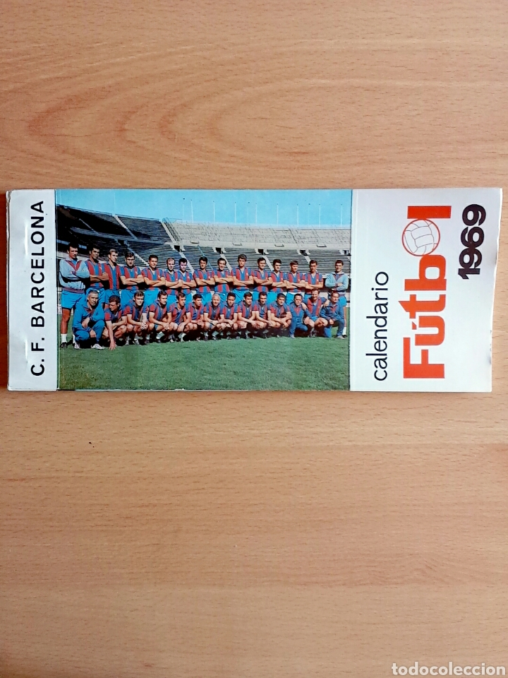 CALENDARIO POSTAL FÚTBOL 1969 C. F. BARCELONA (Coleccionismo Deportivo - Postales de Deportes - Fútbol)