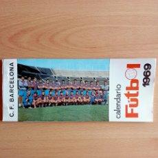 Coleccionismo deportivo: CALENDARIO POSTAL FÚTBOL 1969 C. F. BARCELONA. Lote 90860710