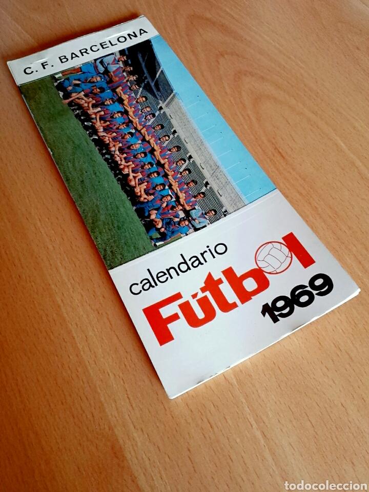 Coleccionismo deportivo: Calendario postal Fútbol 1969 C. F. BARCELONA - Foto 2 - 90860710