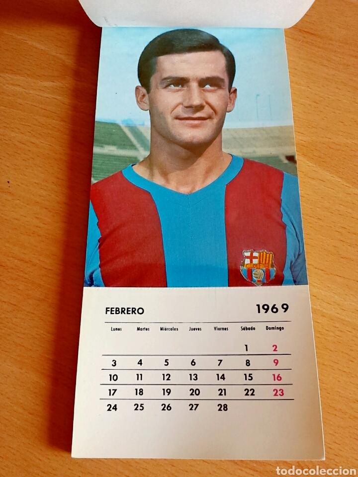 Coleccionismo deportivo: Calendario postal Fútbol 1969 C. F. BARCELONA - Foto 4 - 90860710