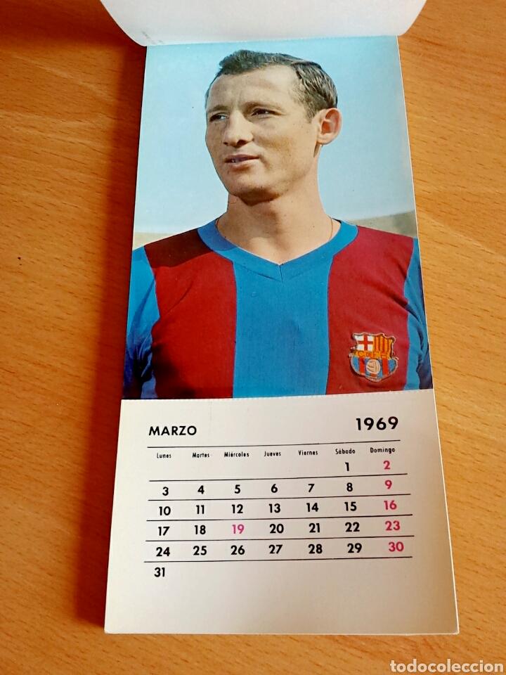 Coleccionismo deportivo: Calendario postal Fútbol 1969 C. F. BARCELONA - Foto 5 - 90860710