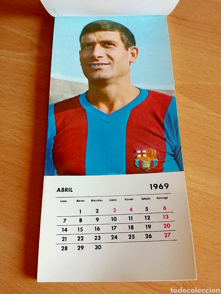 Coleccionismo deportivo: Calendario postal Fútbol 1969 C. F. BARCELONA - Foto 6 - 90860710