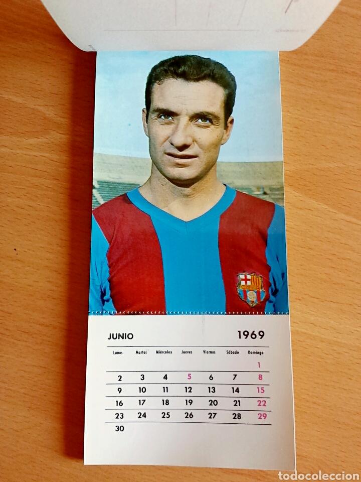 Coleccionismo deportivo: Calendario postal Fútbol 1969 C. F. BARCELONA - Foto 8 - 90860710